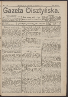 Gazeta Olsztyńska, 1910, nr 109