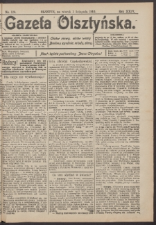 Gazeta Olsztyńska, 1910, nr 129